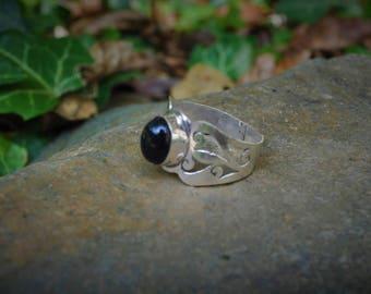 60 silver Onyx ring