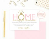 Engagement Party Invitation, Housewarming Party Invitation, Our New House, Engaged, Housewarming and Engagement Party Invitation [451]