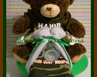 Camo Diaper Tricycle / Camo 3 Wheeler Diaper Cake
