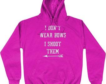 Fun printed Shoot Like A Girl Archery Shooting Hoodie Top Jumper Sweatshirt