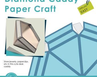 Print and Make Paper Craft - Diamond shaped caddy