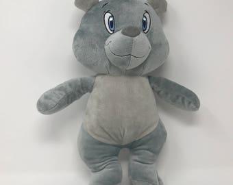 "Kellytoy Nascar Team Penske Joey Logano Bear Plush Stuffed Animal Toy Gray 14""L"