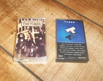 THE TUBES, Cassette Tape Set, Greatest Hits Collection, The Completion Backwards Principle for your Sony Walkman,