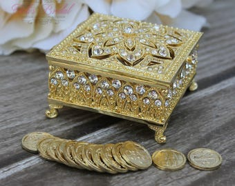 NEW!! Beautiful Swarovski Crystal Box, Wedding Ring Box, Wedding Arras, Unity Coins, Ring Box, Wedding gift, Anniversary Gift, Arras de boda