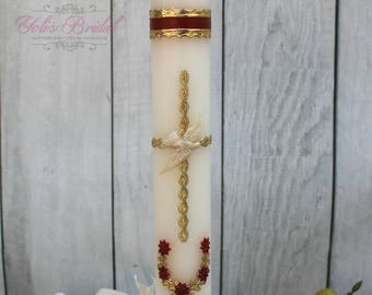 FAST SHIPPING!! Beautiful Confirmation Candle, Confirmation Gift, Confirmation Day, Confirmation Ceremony