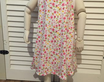 Sweet cotton knit print dress 3T