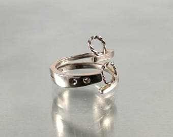 Hoola hoop ring | Rope Infinity Twist Ring |Twist circle ring |Eternity Ring|Open Circle Ring |Unique silver ring