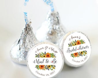 108 Fall Bridal Shower Hershey Kiss Stickers  - Bridal Shower Kiss Labels - Fall Flowers Kiss Labels - Bridal Shower Decor - Fall Wedding