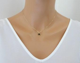 Karma necklace, Lava Stone Necklace, Lava Diffuser pendant, Oil Diffuser Necklace, Aromatherapy jewelry, Essential Oil Lava rock necklace