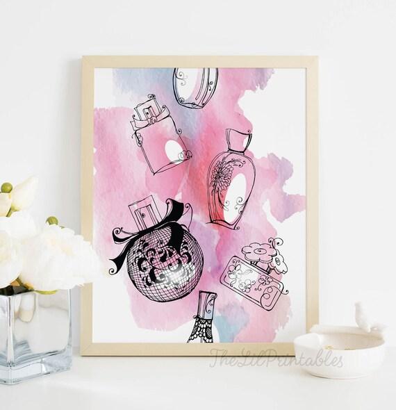 Perfume Printable, Makeup Wall Art, Makeup Printable, Beauty Room Decor,  Makeup Room Print, Wall Art Printable, Teen Wall Art, Art Print Part 98