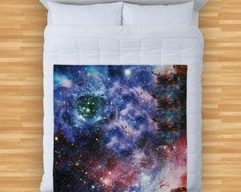 Galaxy Space Design Soft Fleece Blanket Cover Throw Over Sofa Bed Blanket