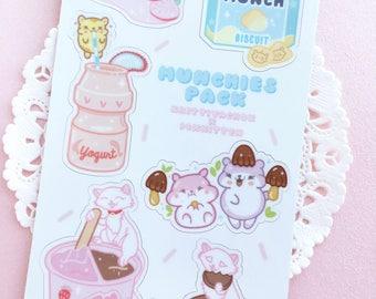 Kawaii Munchies Sticker Sheet