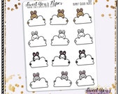 Bunny Planner Stickers - Cloud Planner Stickers - Note Planner Stickers - Doodle Planner stickers - Hand Drawn - 1553