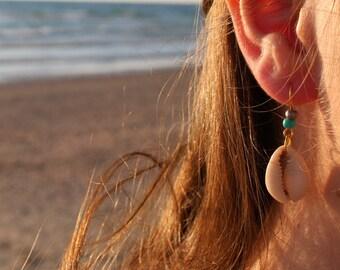 shells earrings, beaded earings, beach jewelry