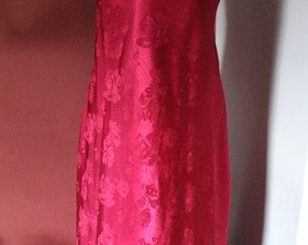 Vintage Jones New York Burgundy Maxi Nightgown