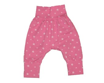 Trousers Sultanhose for Newborn Girls Rose with stars