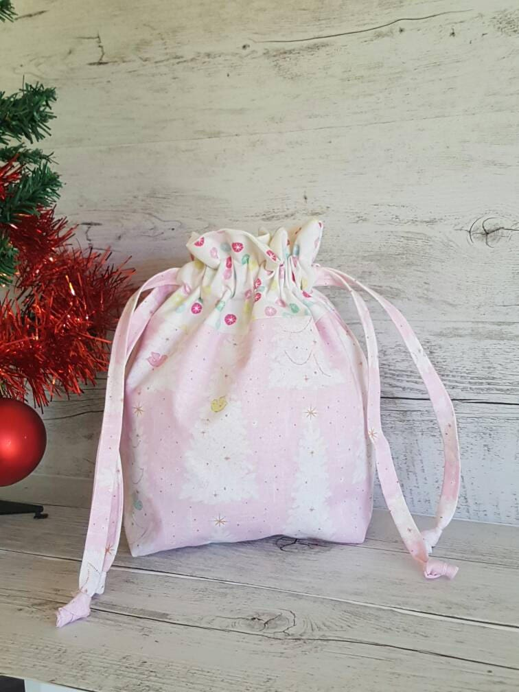 Christmas Gift Bag, Drawstring Bag, Santa Sack, Book Bag, Childrens ...