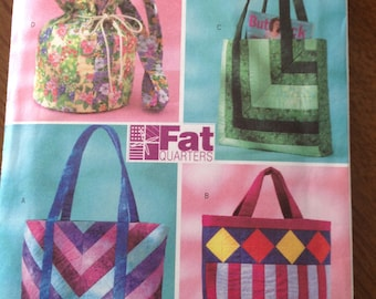 Fat Quarter Bags, pieced tote bag, quilted tote bag,