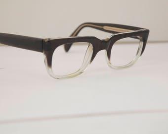 Vintage Mens Eyeglasses 1950s 60s / Dark Brown fade outs frames / ROBINHOOD by ARGUS / rh205