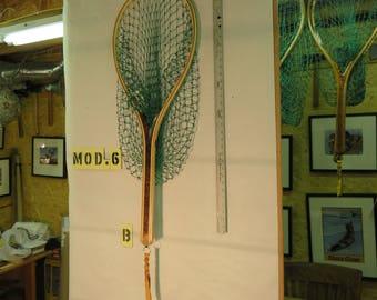 The Canoe Net, A Handmade Wooden Landing Net