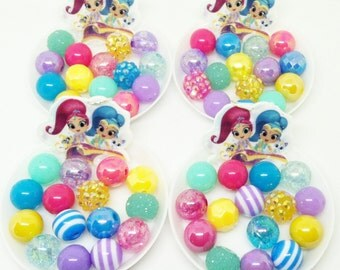 Shimmer and Shine bracelet kits party favors - Complete bracelet kits with 12mm acrylic beads - Choose your amount