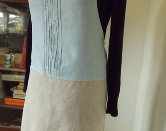 Linen apron, kitchen apron,  eco-friendly, up-cycled