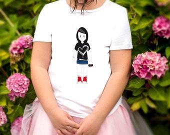 t-shirt girl emo doll