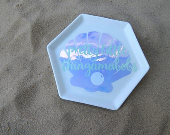 Mermaid Ring Dish - Jewelry Holder - Ceramic Dish - Trinket Tray