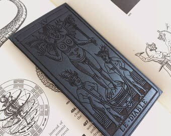 Leather THE DEVIL Tarot Patch / Le Diable / Tarot of Marseilles / Goth / Pagan