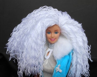 Ooak Barbie Doll with Yarn Hair