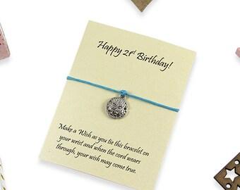 21st Birthday Gift Wish Bracelet, 21st Birthday ideas, Finally 21, Gift for 21st years, 21 today, 21st keepsake, 21st gift for her.
