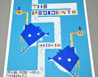 The Residents/3 Color Screenprint/Poster/Gigposter