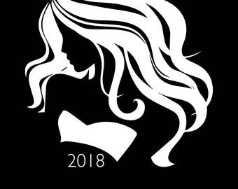 2018 Salon Day Planner | black |  Weekly | 13 months Jan18-Jan19 | Appointment Book | Scheduling | Manicurist or Lash Stylist | Dated | Gift