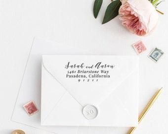 Custom Return Address Stamp, Self Ink Return Address Stamp, Personalized Address Stamp, Calligraphy Address Stamp Return Address Stamp No73