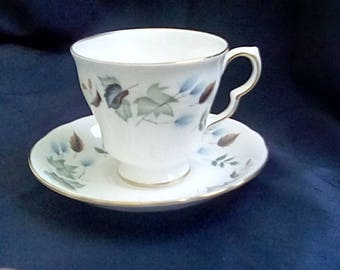 Colclough Cup & Saucer in the Linden Pattern