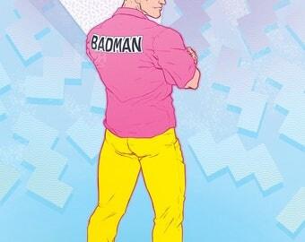DBZ Vegeta: BADMAN Art Print