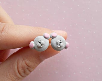 Mouse Earrings - Mouse Jewelry - Mouse Studs - Mouse Lover Gift - Mice Earrings - Mouse Jewellery - Animal Earrings - Stud Earrings