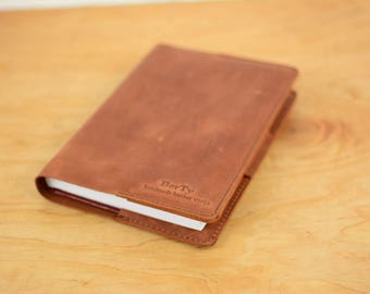 Leather notebook cover A5/ Leather notebook cover, Leather journal, A5 notebook cover, Leather organizer, Book cover, Leather notebook cover