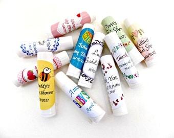 Organic Lip Balm Favors, Personalized Favors, Personalized Baby Shower Favors, Personalized Wedding Favors, Bridal Shower Favors