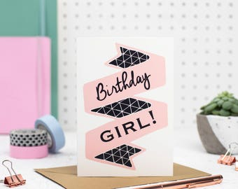 Birthday Card - Happy Birthday card - Birthday card - happy birthday - birthday card girl - friend birthday card - Card for her
