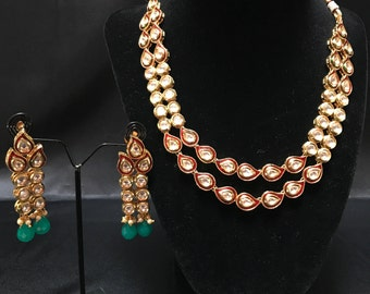 Real Kundan Jewelry Set - Kundan Jewelry - Kundan Jewellery - Bollywood Jewelry - Indian Jewelry - Indian Jewellery - Pakistani Jewelry -