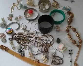 Costume Jewelry, Costume Jewelry Lot, Mixed Jewelry Pieces Lot, Jewelry Lot, Costume Jewelry for Wearing or Crafting Lot, Mixed Jewelry Lot