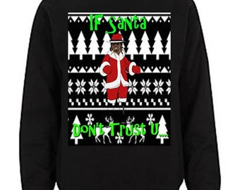 Future Ugly Christmas Sweater If Young Metro Don't Trust U Long Sleeve T Shirt