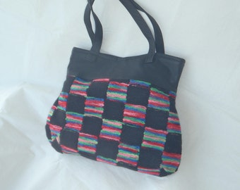 Black and Rainbow Bag
