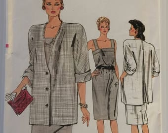 Vintage Very Easy Vogue sewing pattern 9012 - Misses' jacket and dress - size 8-10-12