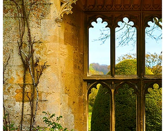 Ornate Castle Windows | The Cotswolds | Cotswold Stone | English Countryside | Photograph | Photo Print | The London Print Shop