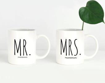 Engagement Mug Set, Wedding Couple Mugs, Mr and Mrs Mugs, Couples Mugs, Engagement Mug Gift, Mug Set for Couples, Mr Mrs Coffee Mugs