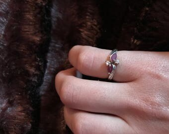Vintage Natural Ruby and Silver Ring