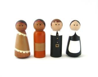 Thanksgiving Peg Doll Set