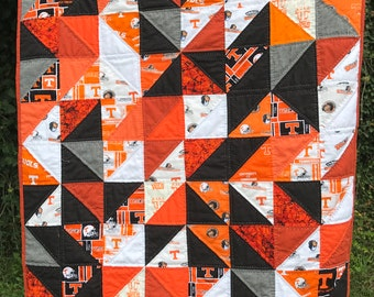 University of Tennessee Triangle Baby Quilt